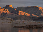 Storm light dances across unnamed mountains near Sandy Point along the Colorado River in the Lake Mead National Recreation Area on the Arizona-Nevada border (Photo from Nevada looking into Arizona)