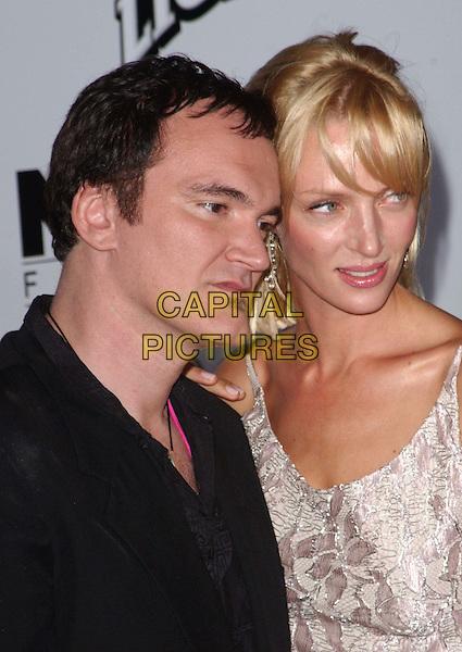 QUENTIN TARANTINO & UMA THURMAN.Kill Bill L.A. premiere, Graumann's Chinese Theatre.www.capitalpictures.com.sales@capitalpictures.com.©Capital Pictures.