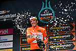 Mirco Maestri (ITA) Bardiani CSF wins the sprints Maglia Arancione at the end of Stage 7 of the Race of the Two Seas, the 54th Tirreno-Adriatico 2019, an individual time trial running 10.1km around San Benedetto del Tronto, Italy. 19th March 2019.<br /> Picture: LaPresse/Gian Mattia D'Alberto | Cyclefile<br /> <br /> <br /> All photos usage must carry mandatory copyright credit (&copy; Cyclefile | LaPresse/Gian Mattia D'Alberto)