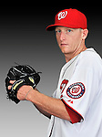25 February 2011: Washington Nationals' pitcher Tim Wood poses for his Photo Day portrait at Space Coast Stadium in Viera, Florida. Mandatory Credit: Ed Wolfstein Photo