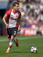 Southampton's Cedric Soares <br /> <br /> Photographer David Horton/CameraSport<br /> <br /> The Premier League - Southampton v Chelsea - Saturday 14th April2018 - St Mary's Stadium - Southampton<br /> <br /> World Copyright &copy; 2018 CameraSport. All rights reserved. 43 Linden Ave. Countesthorpe. Leicester. England. LE8 5PG - Tel: +44 (0) 116 277 4147 - admin@camerasport.com - www.camerasport.com