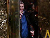 Retired United States Army lieutenant general Michael T. Flynn stands inside the elevator at Trump Tower on November 29, 2016 in New York City.   <br /> Credit: John Angelillo / Pool via CNP
