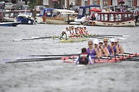 Henley, GREAT BRITAIN, Remenham Challenge Cup, Leander Club and Wallingford Rowing Club. 2008 Henley Royal Regatta  on Saturday, 05/07/2008,  Henley on Thames. ENGLAND. [Mandatory Credit:  Peter SPURRIER / Intersport Images] Rowing Courses, Henley Reach, Henley, ENGLAND . HRR