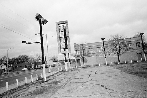 March 29, 2009<br /> Detroit, Michigan<br /> <br /> Abandoned car dealership in city center.