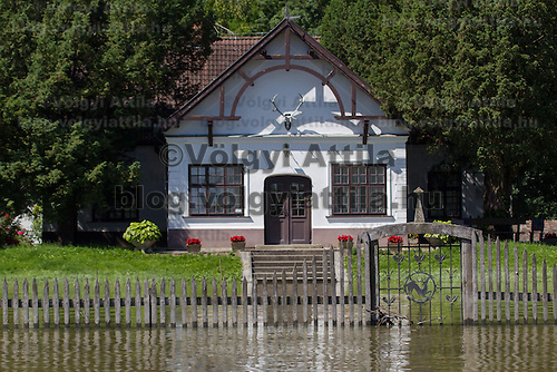 River side house in the flooding area near the forest in Gemenc (about 218 km South of the capital city Budapest), Hungary on June 14, 2013. ATTILA VOLGYI