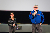 Séance de projection pour les collégiens<br /> Marie-Hélène Salers et Jean-Jacques Favier