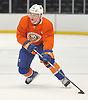 Scott Eansor #36 skates during New York Islanders Rookie Camp at NYCB Live's Nassau Coliseum in Uniondale on Tuesday, Sept. 12, 2017.