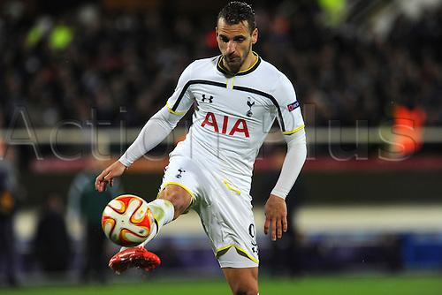 26.02.2015.  Florence, Italy. Europa League Football. Fiorentina versus Tottenham Hotspur. Roberto Soldado in action