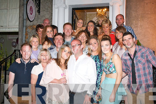 HAPPY 30TH: Caroline Sugrue-Scroope, The Spa,Tralee (Front centre) celebrated her 30th birthday at Mary Anns Tea rooms, Tralee with a massive party of family and friends, Saturday night last.