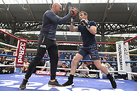 Willy Hutchinson during a Public Workout at Old Spitalfields Market on 9th July 2019