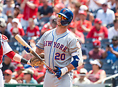 New York Mets first baseman Pete Alonso (20) reacts after striking out in the first inning against the Washington Nationals at Nationals Park in Washington, D.C. on Monday, September 2, 2019.<br /> Credit: Ron Sachs / CNP<br /> (RESTRICTION: NO New York or New Jersey Newspapers or newspapers within a 75 mile radius of New York City)