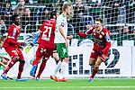 Stockholm 2014-05-04 Fotboll Superettan Hammarby IF - IFK V&auml;rnamo :  <br /> V&auml;rnamos Martin Claesson jublar efter att ha kvitterat till 1-1 i den f&ouml;rsta halvleken<br /> (Foto: Kenta J&ouml;nsson) Nyckelord:  Superettan Tele2 Arena Hammarby HIF Bajen V&auml;rnamo jubel gl&auml;dje lycka glad happy