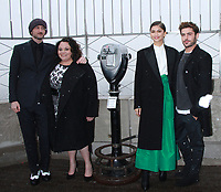 NEW YORK, NY - DECEMBER 9: Michael Gracey, Keala Settle, Zendaya, Zac Efron,  pictured as the cast of The Greatest Showman attend the Empire State Building in New York City on December 9, 2017. Credit: RW/MediaPunch /nortephoto.com NORTEPHOTOMEXICO