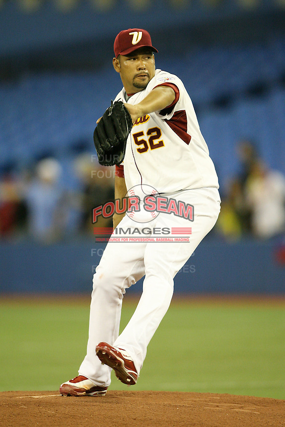 March 7, 2009:  Starting pitcher Carlos Silva (52) of Venezuela during the first round of the World Baseball Classic at the Rogers Centre in Toronto, Ontario, Canada.  Venezuela defeated Italy 7-0 in both teams opening game of the tournament.  Photo by:  Mike Janes/Four Seam Images