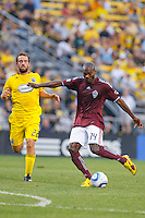 21 AUGUST 2010:  Colorado Rapids forward Omar Cummings (14) during MLS soccer game between Colorado Rapids vs Columbus Crew at Crew Stadium in Columbus, Ohio on August 21, 2010.