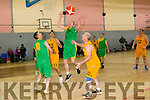 Men's SF 1 Kilkenny  vs cougars in the Kerry Masters Charity Basketball Tournament in aid of the Kerry Special Olympics club at Comman Ioseaf on Sunday