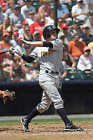 Trenton Thunder infielder Corban Joseph #14 at bat during a game against the Richmond Flying Squirrels at The Diamond on May 27, 2012 in Richmond, Virginia. Richmond defeated Trenton by the score of 5-2. (Robert Gurganus/Four Seam Images)