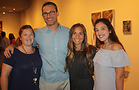 NWA Democrat-Gazette/CARIN SCHOPPMEYER Sarah Cobb (from left), Zach and Sarah Brothers and Josefa Michelini attend the Kiss Me, Kate opening.