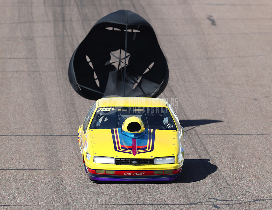 Feb 23, 2019; Chandler, AZ, USA; NHRA top sportsman driver Richard Okerman during qualifying for the Arizona Nationals at Wild Horse Pass Motorsports Park. Mandatory Credit: Mark J. Rebilas-USA TODAY Sports