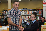 3rd Class Student at Presentation NS, Sorcha McGeown receives 1st Prize from Paul Martin, CTI Drogheda at the Drogheda Count Presentation in Drogheda Library...(Photo credit should read Jenny Matthews/NEWSFILE)...