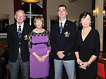 "Club President Jack Williams, Lady Captain Bernie Mullen, Captain Russell Durnin and Lady President Joan Tully pictured at the Captain""s dinner at Laytown & Bettystown golf club. Photo: Colin Bell/pressphotos.ie"