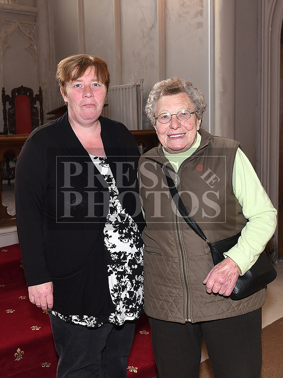 Current Church Warden Ruth Strahan and former Church Warden Edith Brooks at the Save the Church launch in Collon Church of Ireland. Photo:Colin Bell/pressphotos.ie