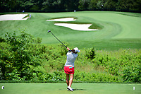 Marina Alex (USA) watches her tee shot on 3 during Sunday's final round of the 72nd U.S. Women's Open Championship, at Trump National Golf Club, Bedminster, New Jersey. 7/16/2017.<br /> Picture: Golffile | Ken Murray<br /> <br /> <br /> All photo usage must carry mandatory copyright credit (&copy; Golffile | Ken Murray)