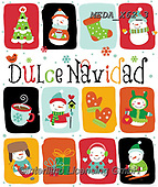 Dreams, CHRISTMAS ANIMALS, WEIHNACHTEN TIERE, NAVIDAD ANIMALES, paintings+++++,MEDAX62/3,#XA# ,sticker,stickers