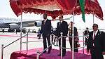 Egyptian President, Abdel Fattah al-Sisi, upon arriving at Addis Ababa, Ethiopia, January 27, 2018. Photo by Egyptian President Office