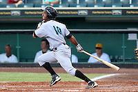 Jupiter Hammerheads outfielder Ernesto Manzanillo #10 during a game against the Bradenton Marauders at McKechnie Field on June 22, 2011 in Bradenton, Florida.  Bradenton defeated Jupiter 5-4.  (Mike Janes/Four Seam Images)