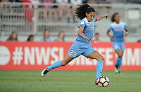 Boyds, MD -Saturday August 26, 2017: Christen Press during a regular season National Women's Soccer League (NWSL) match between the Washington Spirit and the Chicago Red Stars at Maureen Hendricks Field, Maryland SoccerPlex.