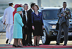 CANBERRA, AUSTRALIA - OCTOBER 19: Queen Elizabeth II and Prince Philip, Duke of Edinburgh arrive on October 19, 2011 in Canberra, Australia. The Queen and Duke of Edinburgh are on a 10-day visit to Australia and will travel to Canberra, Brisbane, Melbourne before heading to Perth for the Commonwealth Heads of Government meeting. This is the Queen's 16th official visit to Australia. Photo: Mark Graham
