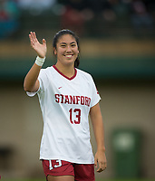 STANFORD, CA - November 23, 2018: Ceci Gee at Laird Q. Cagan Stadium. The top seeded Stanford Cardinal defeated the Tennessee Volunteers 2-0 in the Quarterfinal of the NCAA tournament.
