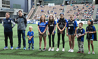 Seattle, WA - Saturday Aug. 27, 2016: Pre-game ceremony prior to a regular season National Women's Soccer League (NWSL) match between the Seattle Reign FC and the Portland Thorns FC at Memorial Stadium.
