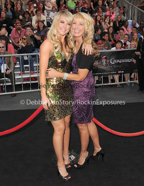 Chelsie Hightower and mom at Walt Disney Pictures Premiere of Pirates of the Caribbean : On Stranger Tides held at Disneyland in Anaheim, California on May 07,2011                                                                               © 2010 Hollywood Press Agency