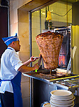 Mexico, Mexico City, Taco al Pastor, Taqueria, Cone of Spiced Lamb
