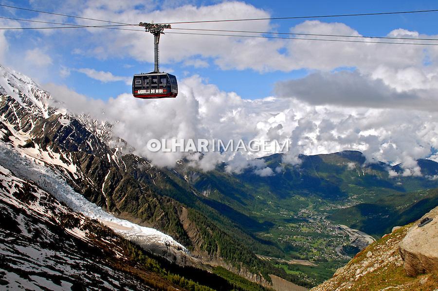 Montanha Mont Blanc. Chamonix. França. 2008. Foto de Thais Falcão.