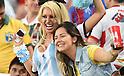 Argentina sexy fans (ARG),<br /> JUNE 15, 2014 - Football / Soccer : FIFA World Cup Brazil 2014 Group F match between Argentina 2-1 Bosnia Herzegovina at Estadio do Maracana in Rio de Janeiro, Brazil.<br /> (Photo by Song Seak-In/AFLO)