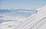 Peter Spain  enjoys 4500 vertical feet of untracked snow on the Davis Creek park run off of Mt. Rose Ski Tahoe.