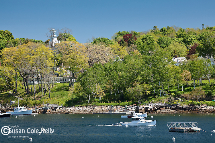 Springtime in Rockport, ME, USA