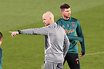 AFC Ajax's coach Erik ten Hag and Klass Jan Huntelaar during training session. February 19,2020.(ALTERPHOTOS/Acero)