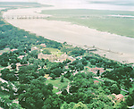 Aerial view of  Jekyll Island Club on Jekyll Island, GA.