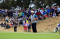 Rickie Fowler (USA) on the 10th fairway during the Second Round - Foursomes of the Presidents Cup 2019, Royal Melbourne Golf Club, Melbourne, Victoria, Australia. 13/12/2019.<br /> Picture Thos Caffrey / Golffile.ie<br /> <br /> All photo usage must carry mandatory copyright credit (© Golffile | Thos Caffrey)