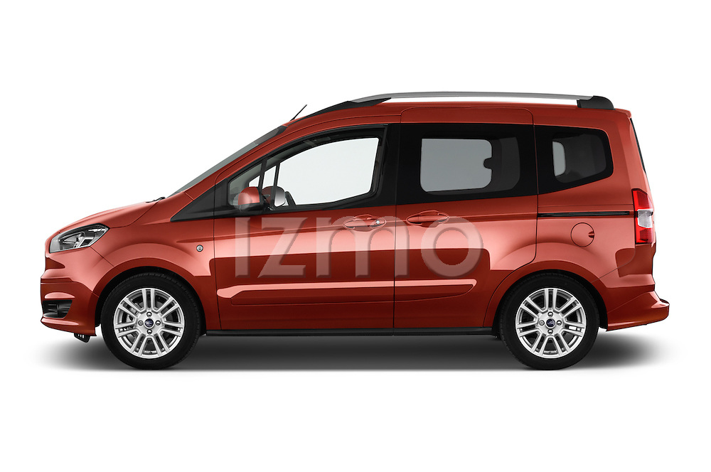 Car Driver side profile view of a 2015 Ford Tourneo Courier Titanium 5 Door Minimpv Side View