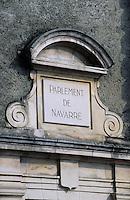 Europe/France/Aquitaine/64/Pyrénées-Atlantiques/Pau: Le parlement de Navarre sur la place de la déportation