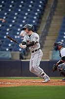 Lakeland Flying Tigers Zac Shepherd (18) at bat during a Florida State League game against the Tampa Tarpons on April 7, 2019 at George M. Steinbrenner Field in Tampa, Florida.  Tampa defeated Lakeland 3-2.  (Mike Janes/Four Seam Images)