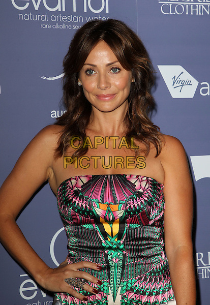 Natalie Imbruglia.Australians in Film 8th Annual Breakthrough Awards held at The Hotel Intercontinental in Century City, California, USA..June 27th, 2012.half length strapless pink black green print dress hand on hip .CAP/ADM/KB.©Kevan Brooks/AdMedia/Capital Pictures.