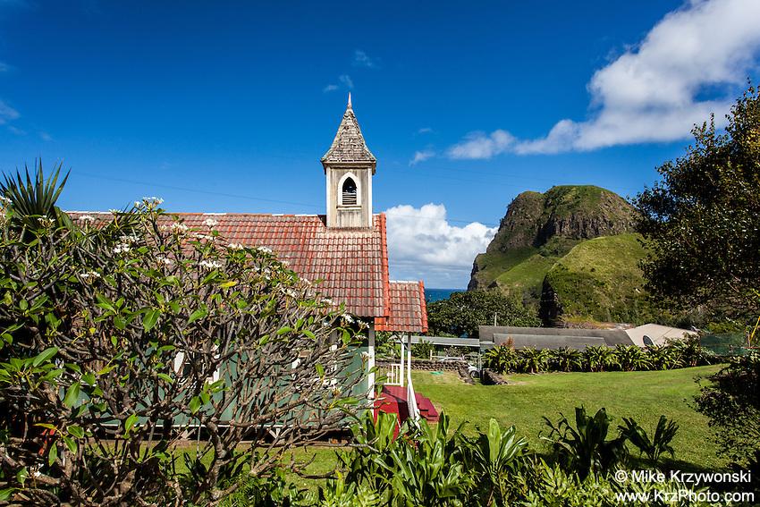 Kahakuloa Congregational Church in Old Kahakuloa Village, Maui