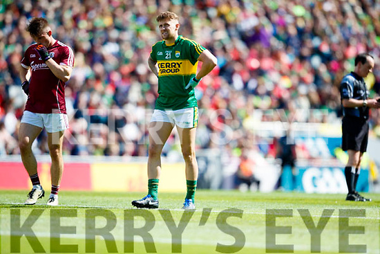 Barry John Keane Kerry in action against  Galway in the All Ireland Senior Football Quarter Final at Croke Park on Sunday.