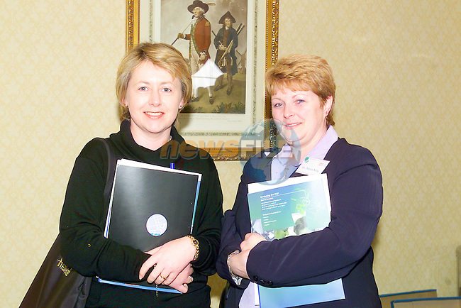 Teresa Comiskey and patricia King at the conference held by the NEHB in the Nuremore Hotel carrickmacross..Photo Fran Caffrey/Newsfile.ie..This picture has been sent to you by:.Newsfile Ltd,.3 The View,.Millmount Abbey,.Drogheda,.Co Meath..Ireland..Tel: +353-41-9871240.Fax: +353-41-9871260.GSM: +353-86-2500958.ISDN: +353-41-9871010.IP: 193.120.102.198.www.newsfile.ie..email: pictures@newsfile.ie..This picture has been sent by Fran Caffrey.francaffrey@newsfile.ie